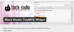 black studio tinymce widget wordpress plugin for ripcurrent - Best Free WordPress Plugins for B2B Websites